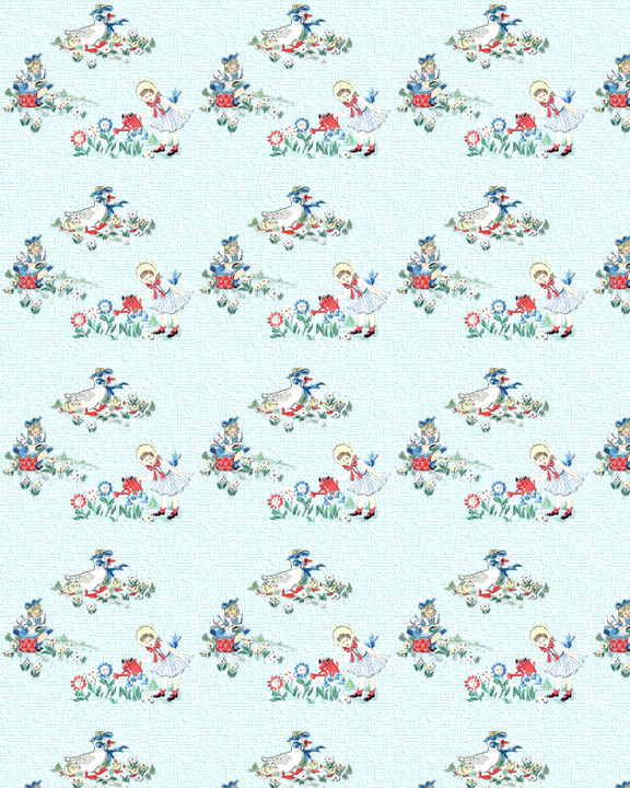 Printable Dollhouse Wallpaper Vintage Children 010