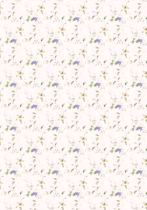 Printable dollhouse wallpaper floral 010