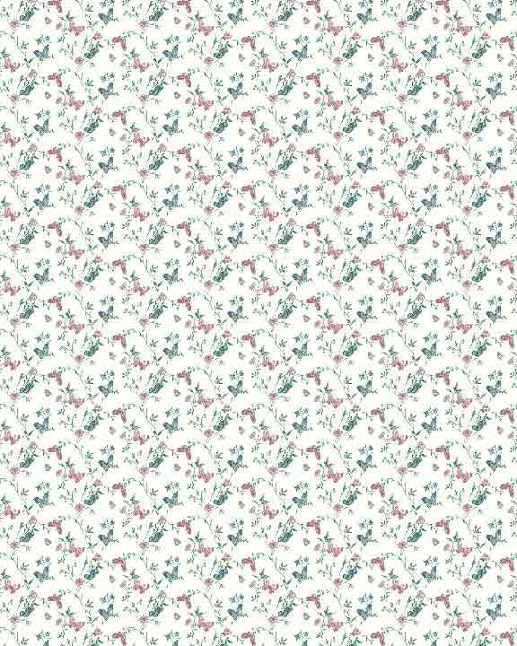 Printable dollhouse wallpaper floral 026