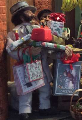 Reginald doll with gifts