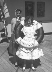 Mam and me on M.V.Brittanic 1957