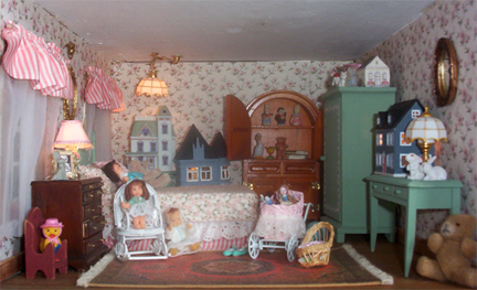 dolls house wallpaper bedroom - photo #24