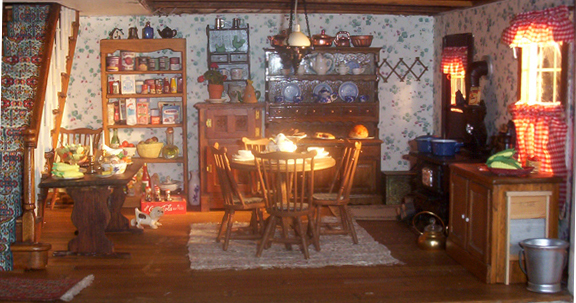 Welcome To Dollhouse Kitchen And Living Room