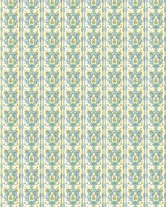 Printable Dollhouse Wallpaper from the Regency Era 012