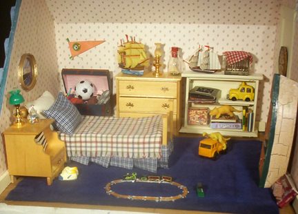Box Shaped Cars >> The Dollhouse Third Floor boys room, sewing room, attic
